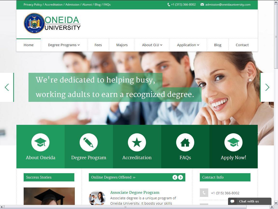 Oneida University   Accredited Universities